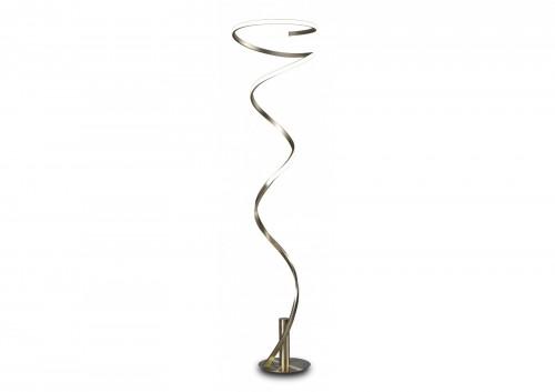 Lampadaire LED Helix blanc chromé