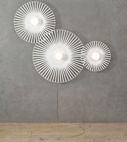 Applique Louise harpo - blanc - 3 lumières