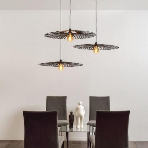 Suspension Solal - Noir - 3 lumières