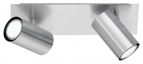 Réglette spots orientables nickel 2xGU10