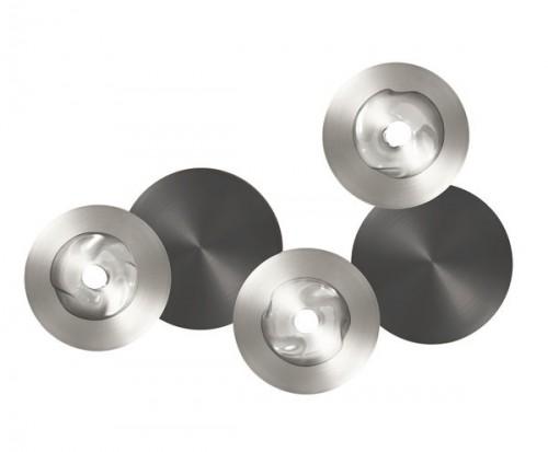 Applique / Plafonnier Dots A nickel - graphite