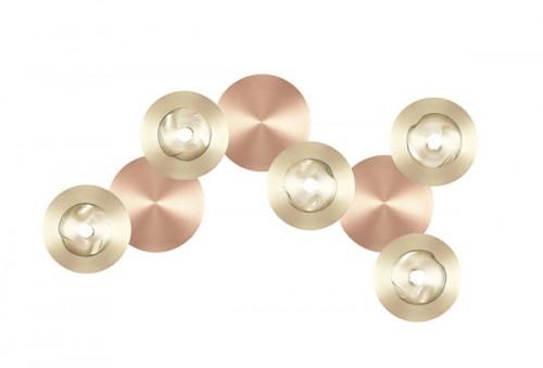 Applique / Plafonnier Dots B satiné - cuivre 5L
