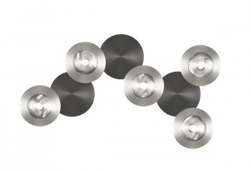 Applique / Plafonnier Dots B nickel - graphite 5L