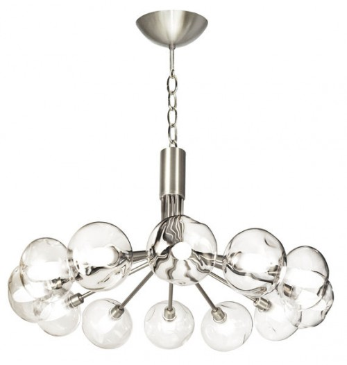 Lustre Luna nickel 12x40W