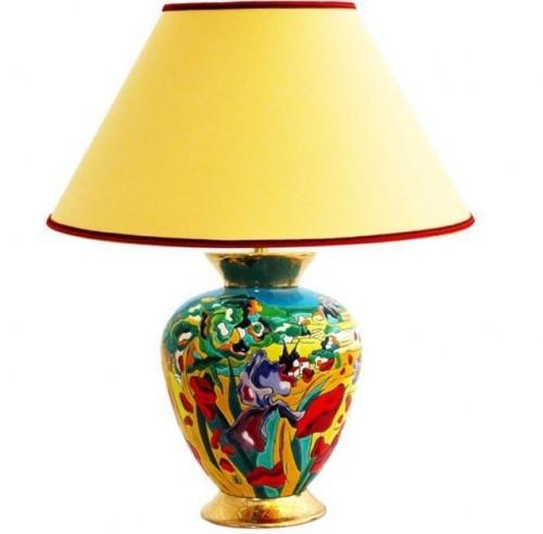 Lampe Iris et Coquelicot par Léon Zanella