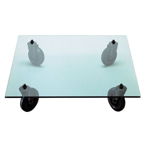 Table Basse con Ruote 100x100 - Fontana Arte