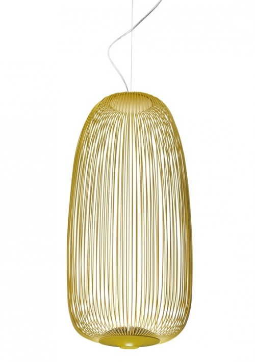Spokes 1 suspension jaune - Foscarini