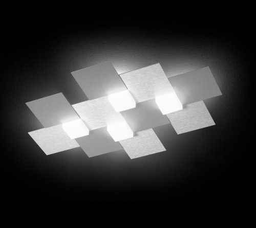 Applique/Plafonnier CREO 4 x LED - Aluminium
