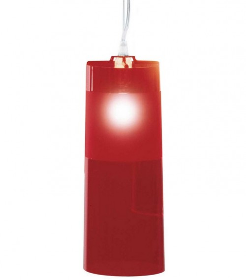 Easy suspension rouge kartell d couvrez luminaires d for Luminaire suspension rouge