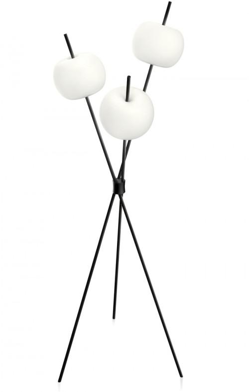 Kushi lampadaire noir - Kundalini