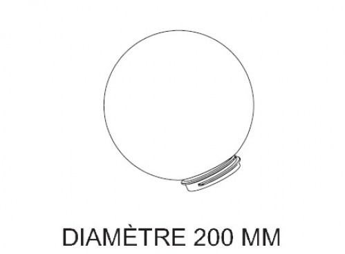 Globe fumé D.20 cm - Roger Pradier