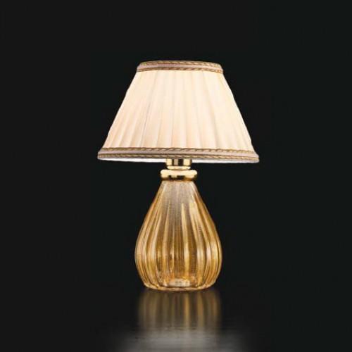 Lampe à poser Verre de Murano Classique Crystal et Or
