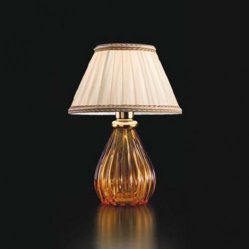 Lampe à poser Verre de Murano Classique Ambre Profond