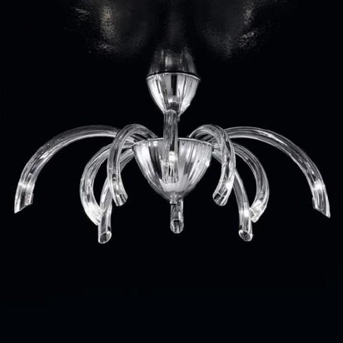 Suspension Verre de Murano Tube Crystal