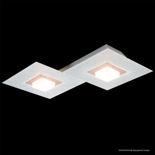 Applique / Plafonnier Karree 2 x LED Nacré - Cuivre