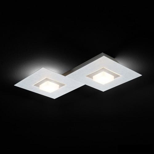 Applique / Plafonnier LED KARREE 2 x 680lm - Aluminium - Titan