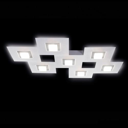 Applique / Plafonnier KARREE 7 x LED Aluminium - Titan