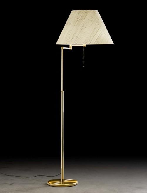 Lampadaire télescopique Charline - laiton mat - 4 lumières