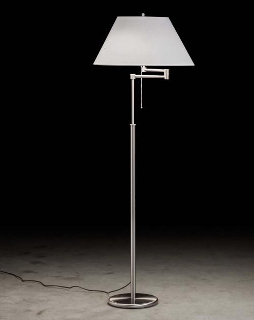 Lampadaire télescopique Charline - Nickel mat - 2 lumières