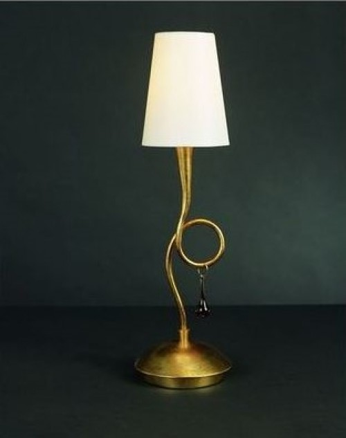 Lampe à poser bronze 2x40W