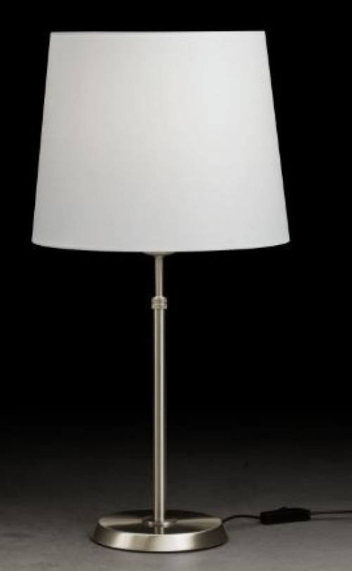 Lampe à poser 75W  nickel mat (ABJ D.30 en option)