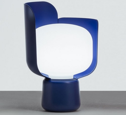 Blom lampe à poser - Fontana Arte - Bleu