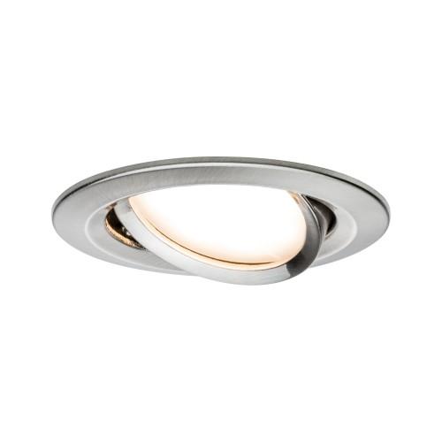 Kit spot encastré LED Coin Slim IP23 6,8 W acier