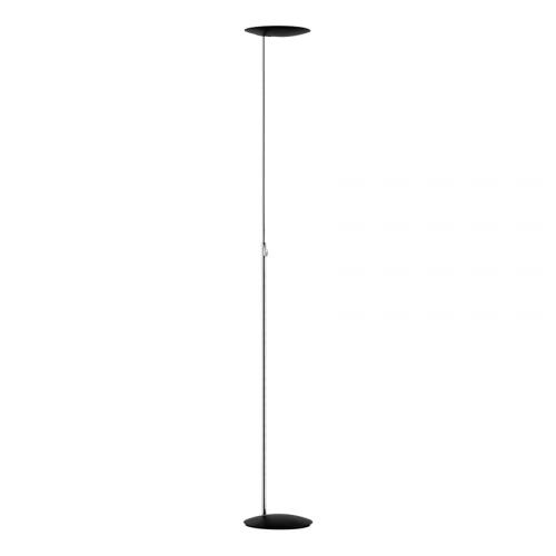 Lampadaire LED Sione 3000 lm chrome et noir
