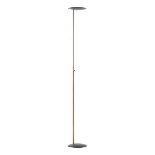 Lampadaire LED Sione 3000 lm cuivre et anthracite