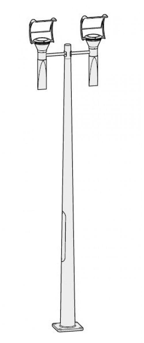 Lampadaire extérieur OL33 2x75W