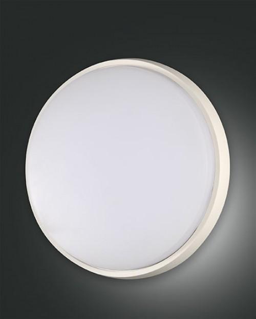 Applique/Plafonnier d'extérieur Led Fabas Luce Olly D.30 - Blanc