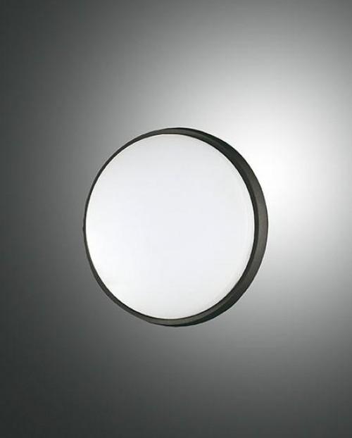 Applique/Plafonnier d'extérieur Led Fabas Luce Olly D.18 - Noir