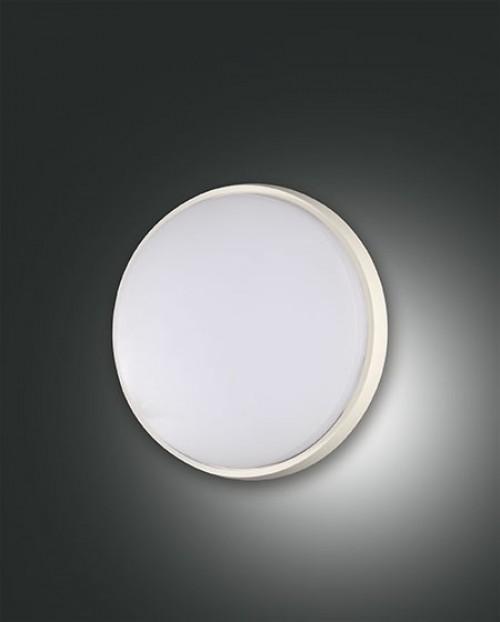 Applique/Plafonnier d'extérieur Led Fabas Luce Olly D.18 - Blanc