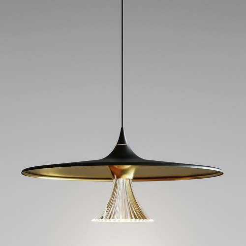 Suspension Ipno LED Noir/Or ARTEMIDE