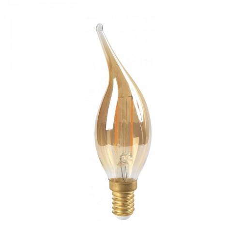 Ampoule flamme LED 4W coup de vent ambre