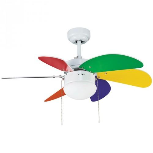 Ventilateur de plafond Tabit Multicolore