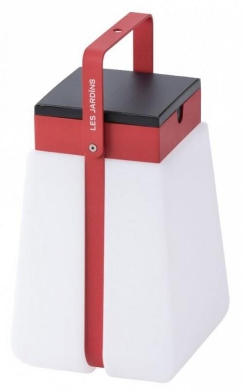 Lanterne d'extérieur Bump 300 lm  - Solaire et rechargeable - Rouge