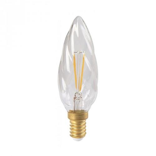 Ampoule flamme LED 4W torsadée claire