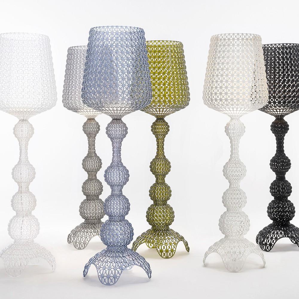 kabuki lampadaire blanc kartell d couvrez luminaires d 39 int rieur jeancel luminaires. Black Bedroom Furniture Sets. Home Design Ideas