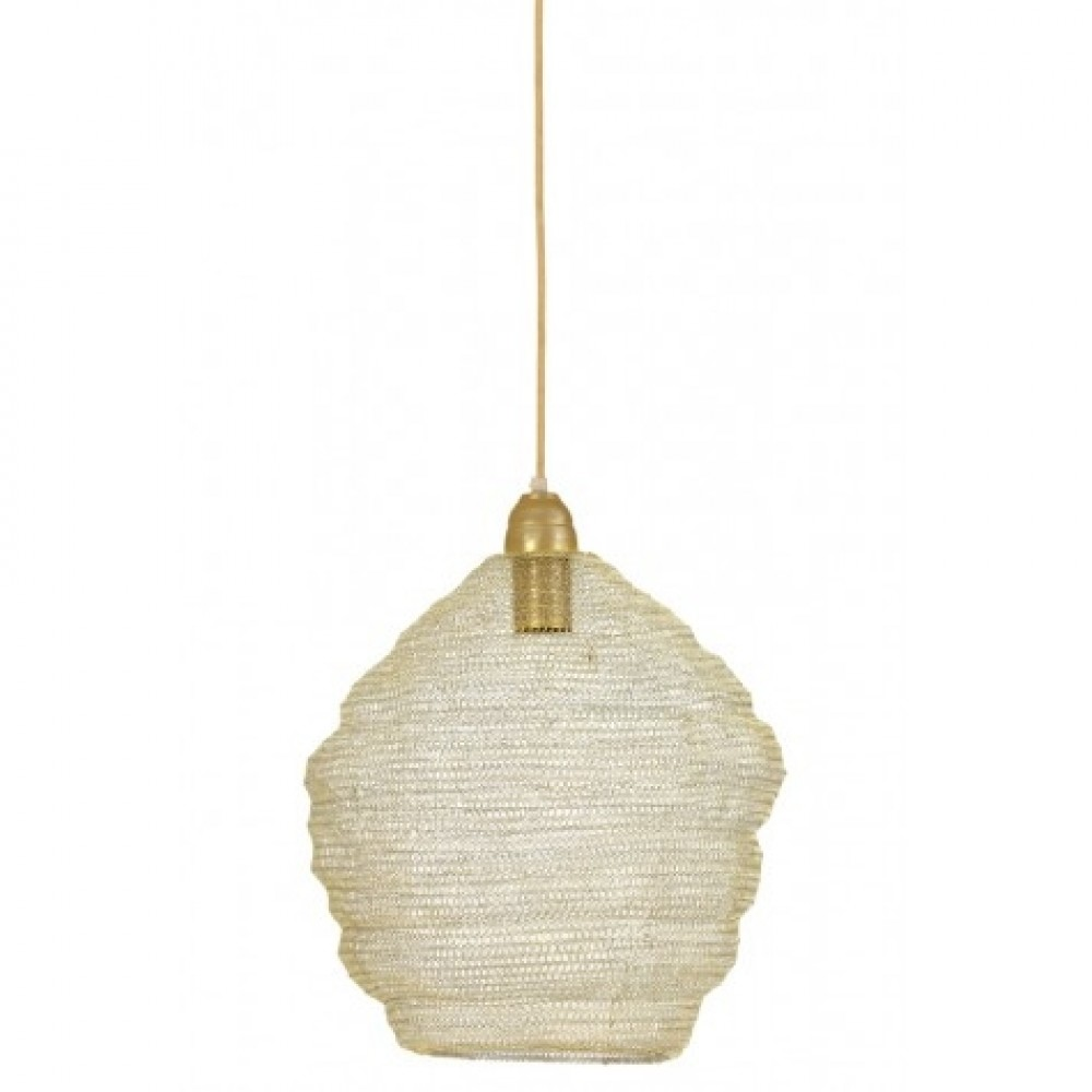 Suspension Maille champagne antique