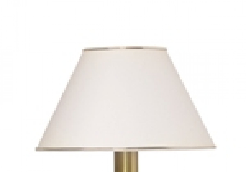 Abat-jour blanc et liseré doré Ø35cm