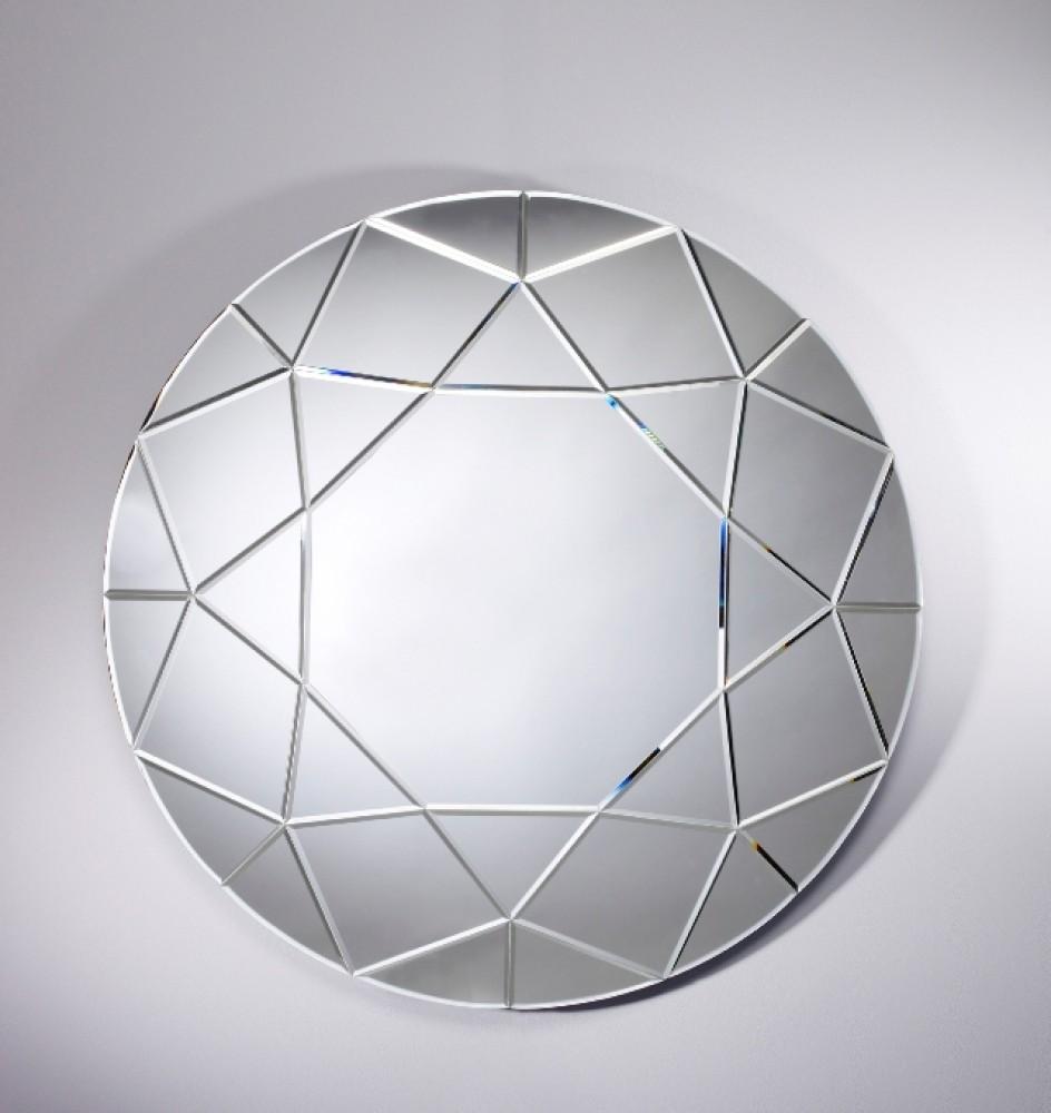 Miroir rond biseauté 90x90