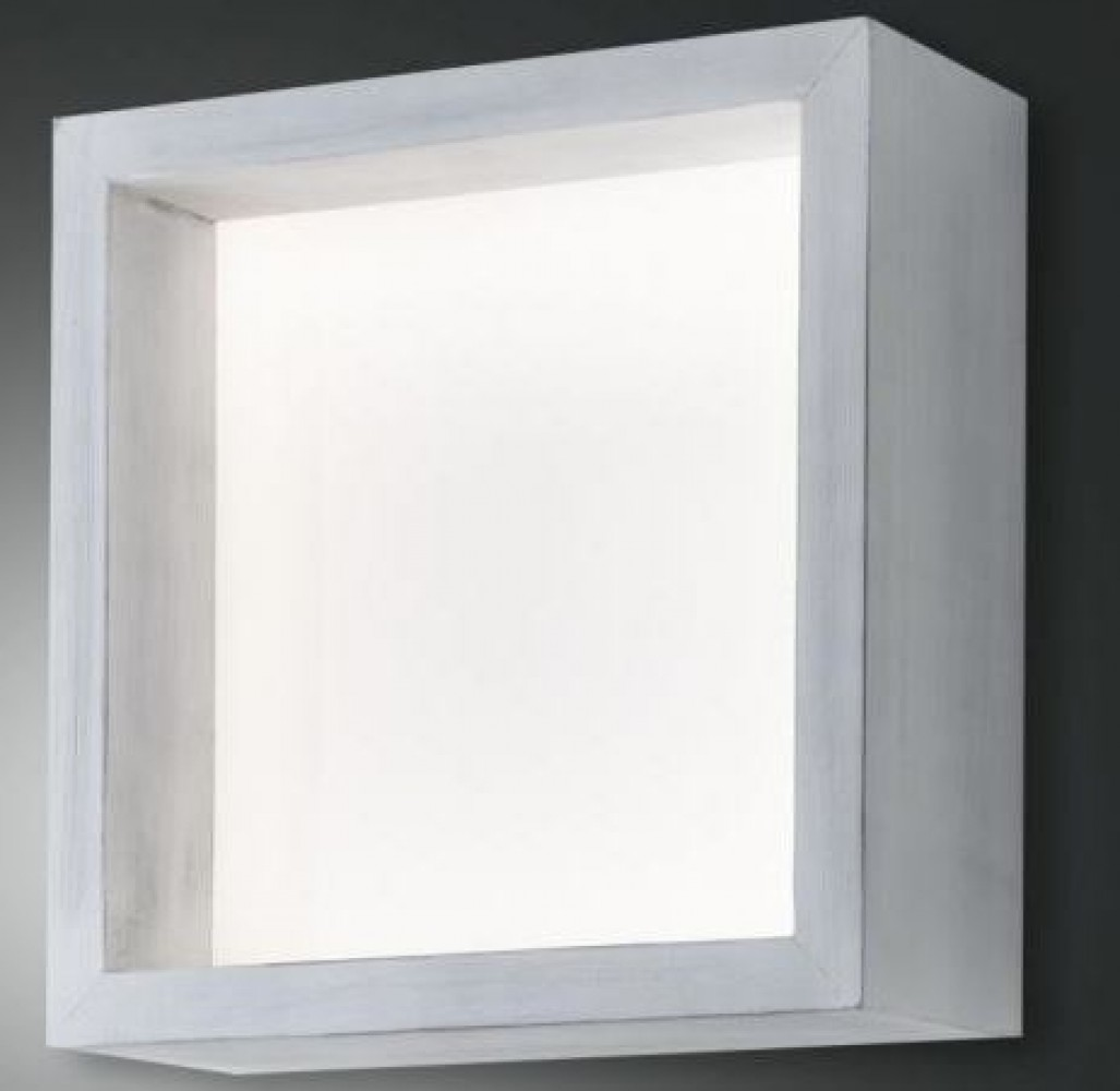 Applique Led Window carrée - Blanc vintage