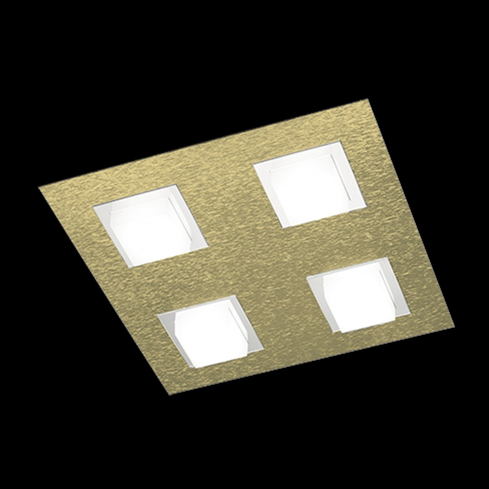 Plafonnier Led Basic 4x520lm Laiton mat
