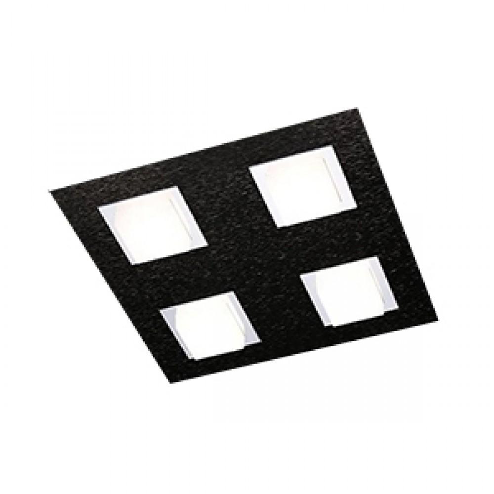 Plafonnier Led Basic 4x520lm Noir