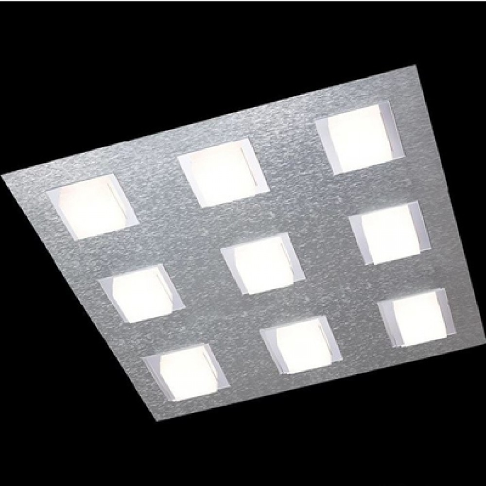 Plafonnier Led Basic 9x515lm Aluminium