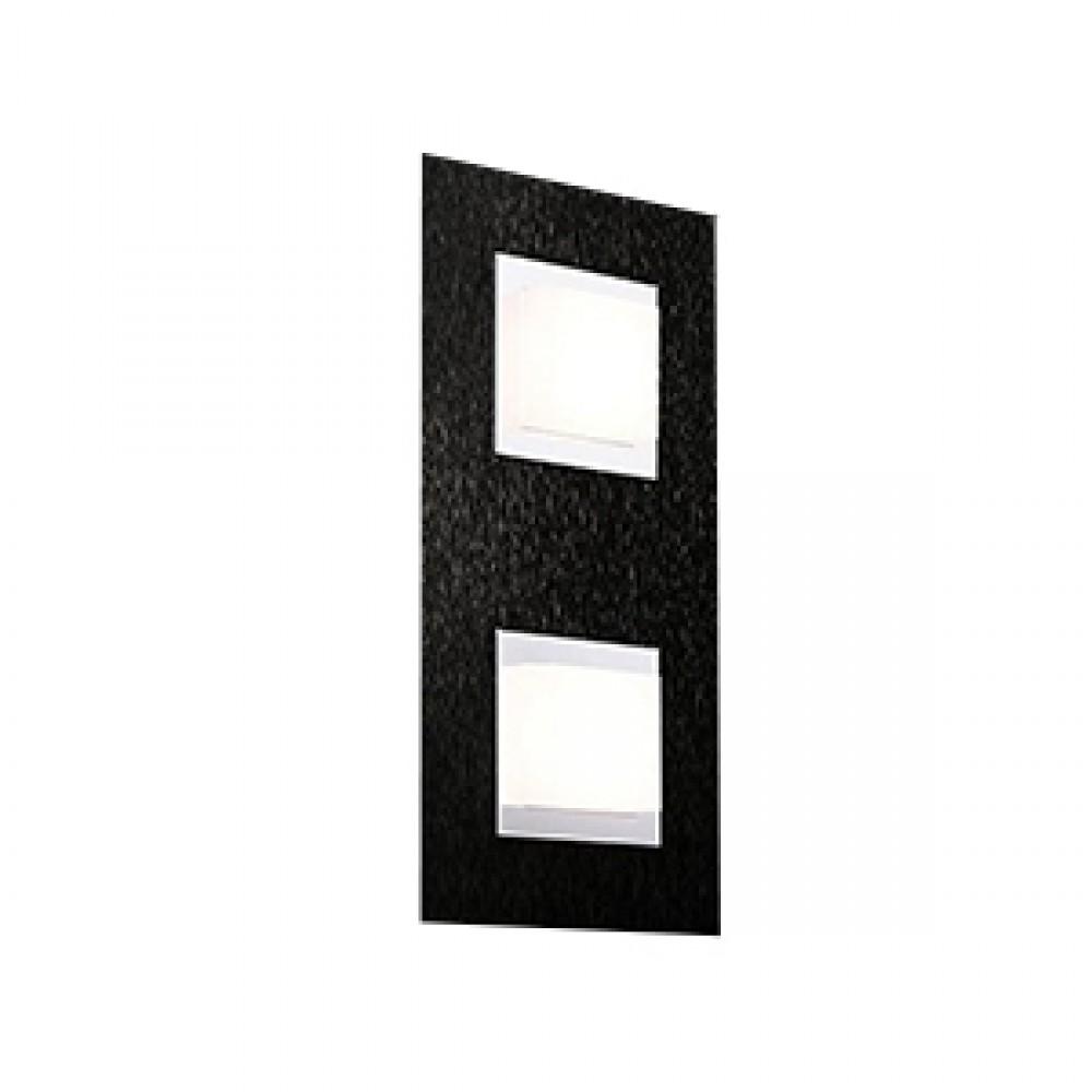 Applique/plafonnier Led Basic 2x520lm Noir
