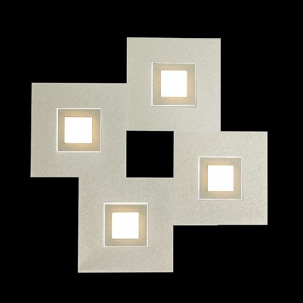 Applique / Plafonnier Karree 4 x Led - Titan/Nacre