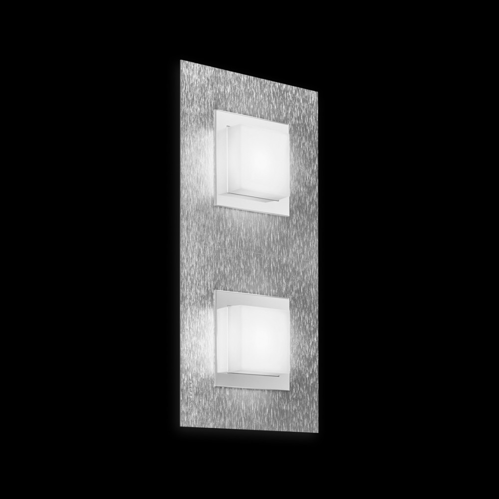 Applique/plafonnier LED Basic 2x520lm Aluminium brossé