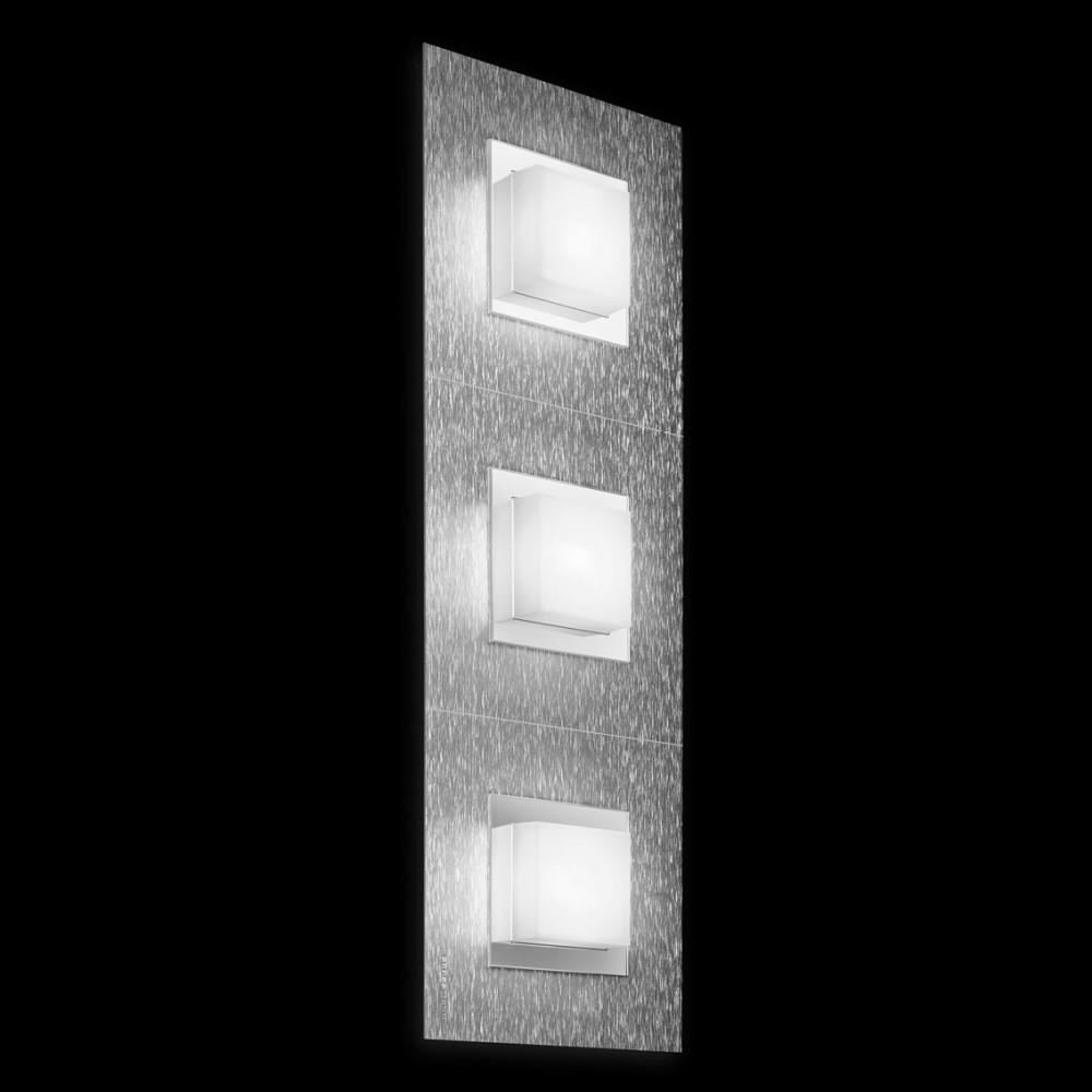 Applique/plafonnier LED Basic 3x520lm Aluminium brossé